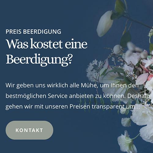 Website für Bestatter Digitalbestattungen